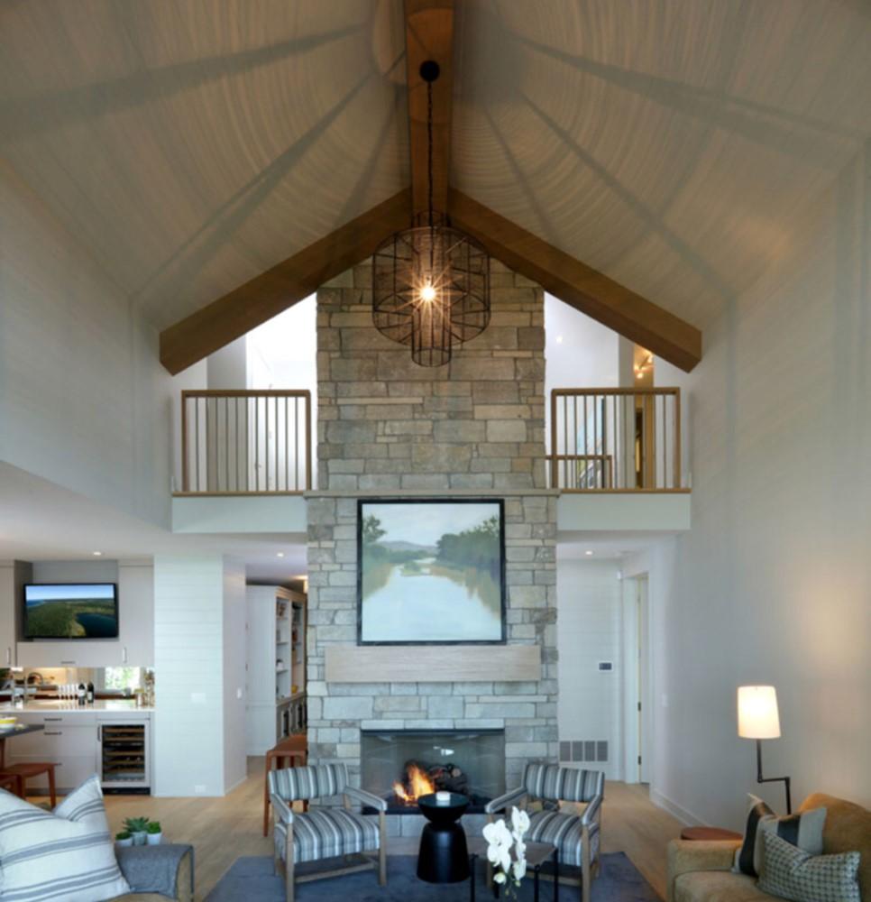 huge ceilings in living room - G.F. McLaughlin