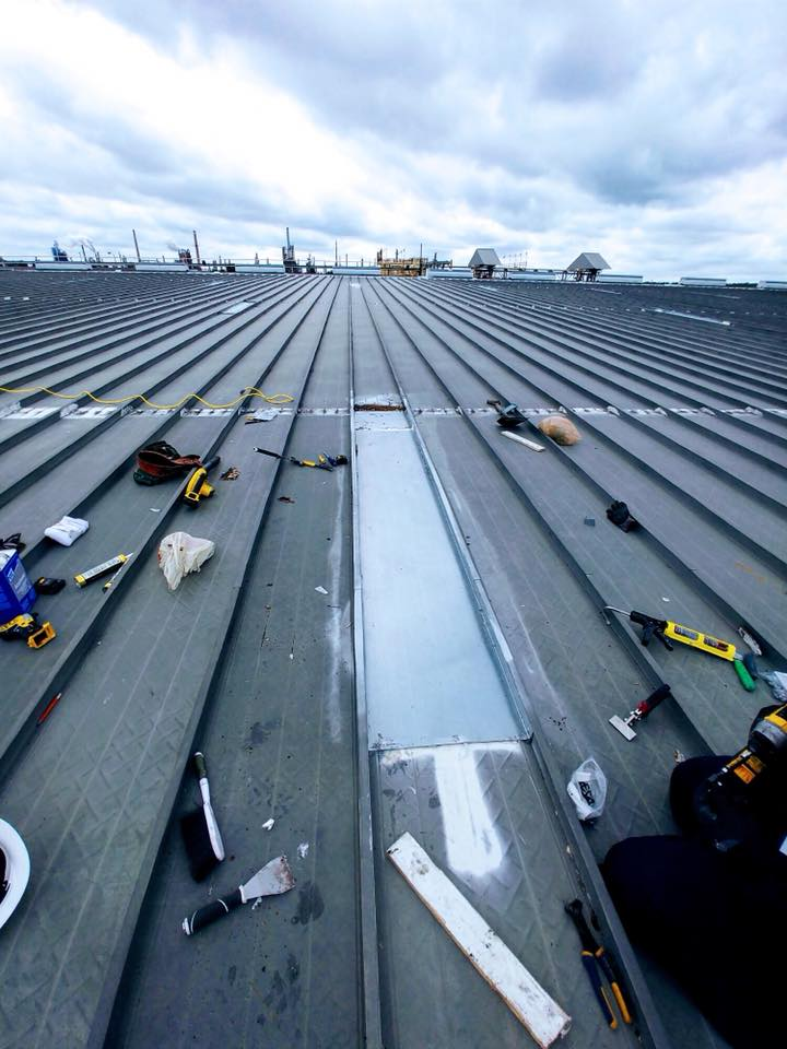 commercial roofing project - G.F. McLaughlin